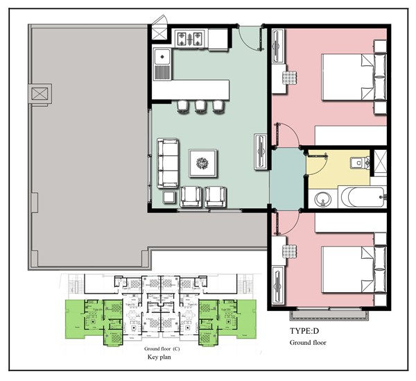 Royal Apartments 3 - 2 bedroom Type D