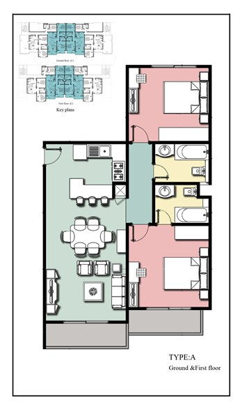 Royal Apartments 3 - 2 bedroom Type A